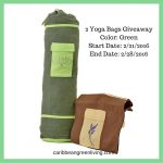 Giveaway! 2 Yoga Bags to help you with your exercise routine