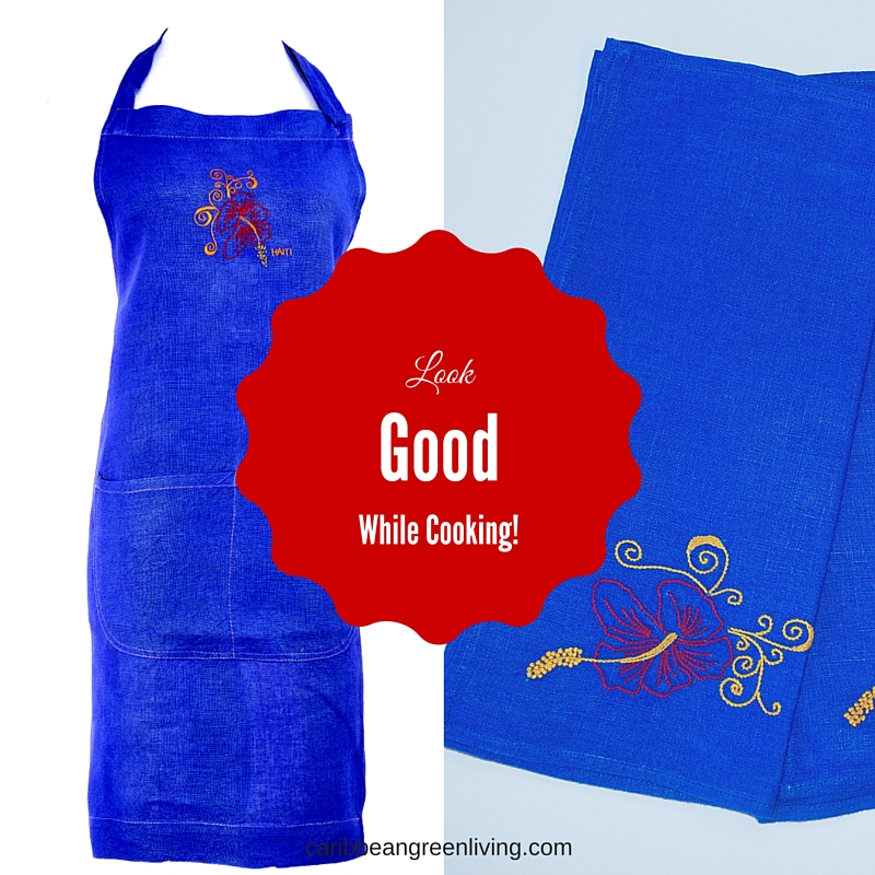 Apron and Kitchen Towels Giveaway! - caribbeangreenliving.com