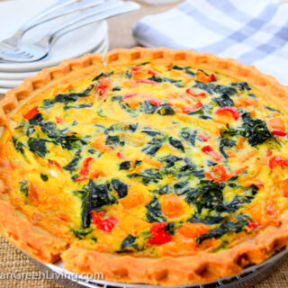 Spinach and Sweet Peppers Pie