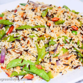 Wild Rice Pilaf with Snap Peas 2 2