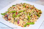 Wild Rice Pilaf with Snap Peas - caribbeangreenliving.com