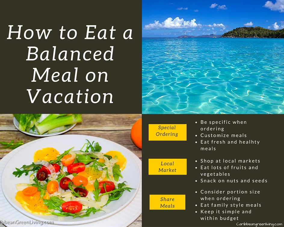 How to Eat a Balanced Meal on Vacation - caribbeangreenliving.com