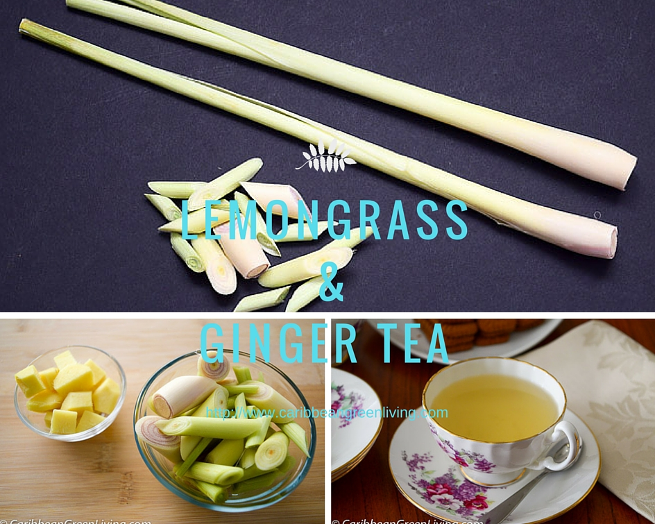 Lemongrass and Ginger Tea board - caribbeangreenliving.com