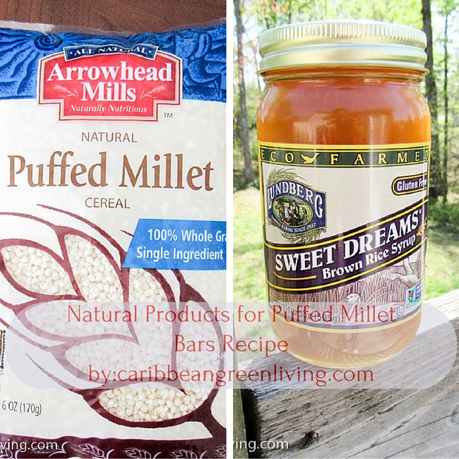 Puffed Millet with Brown Rice Sugar-caribbeangreenliving.com