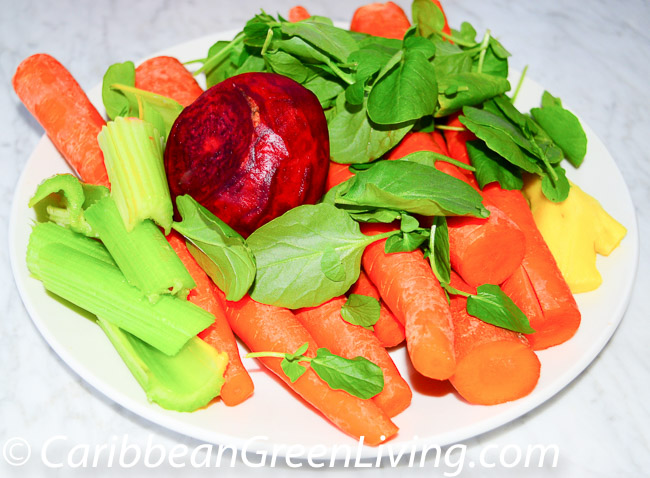 Veggies for Beet Carrots and Spinach Juice - caribbeangreenliving.com