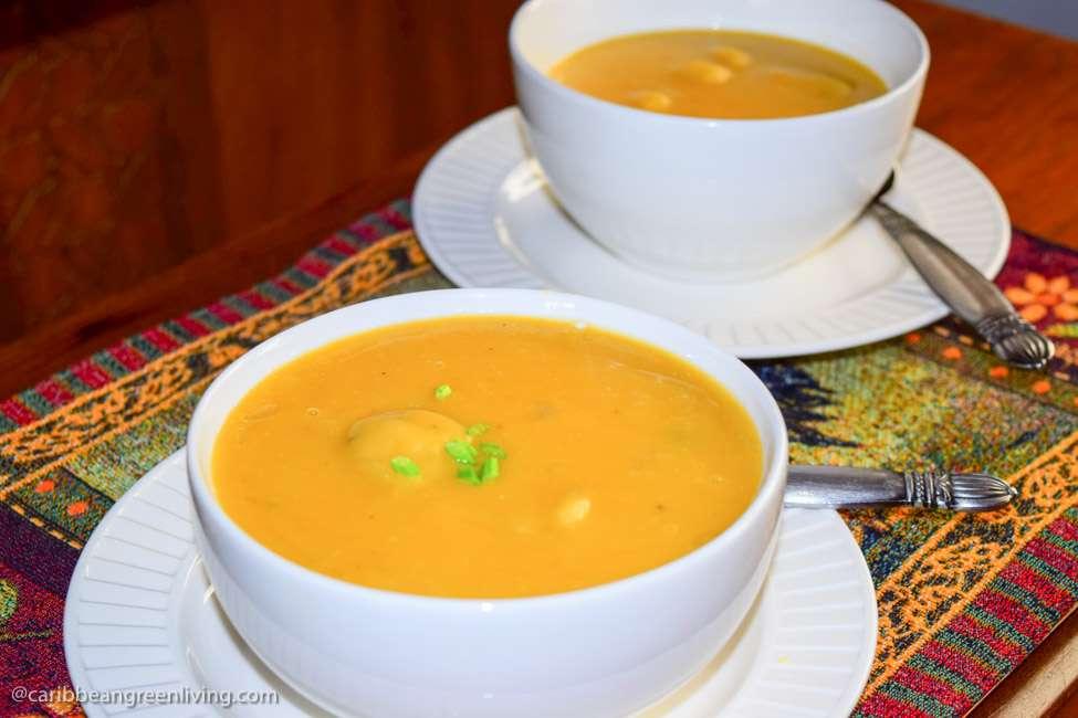 Yellow Split Peas Soup -caribbeangreenliving.com