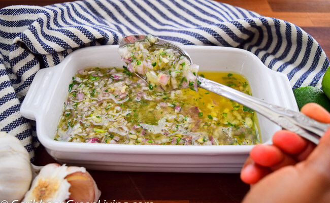 Zesty Shallots and Parsley Sauce - caribbeangreenliving.com