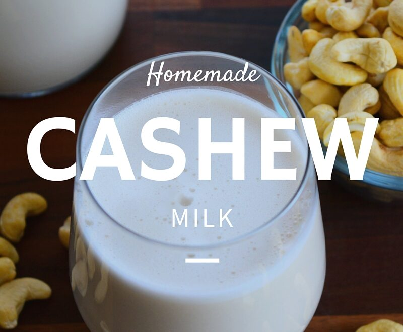 homemade cashew milk - caribbeangreenliving.com