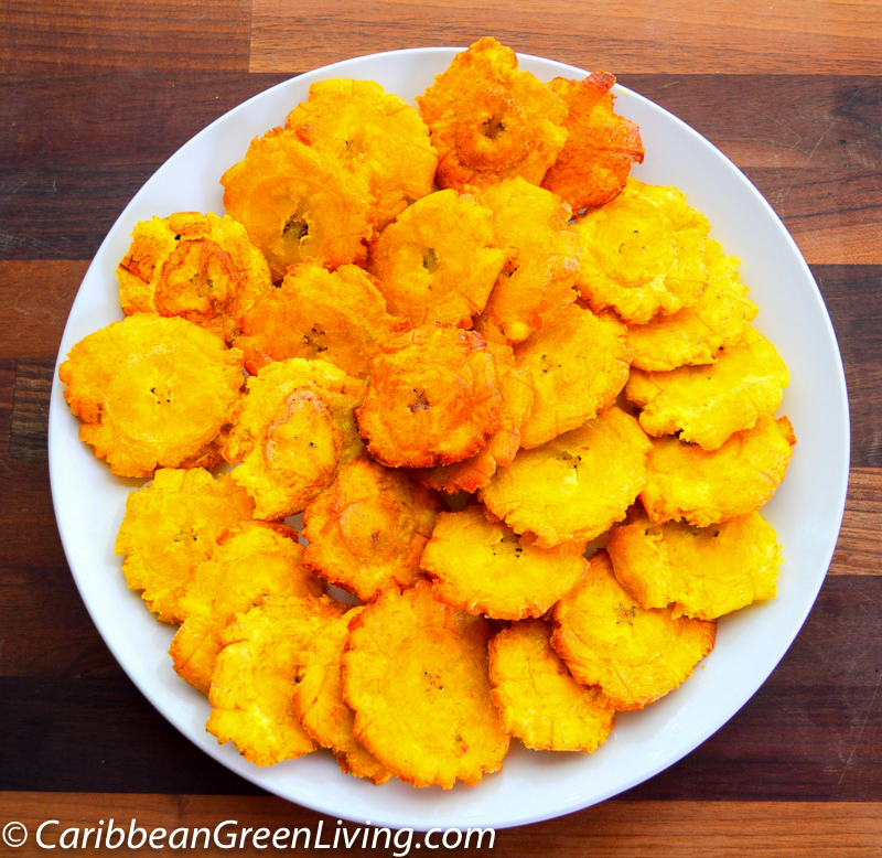 How to make Crispy Fried Green Plantains | Caribbean Green Living