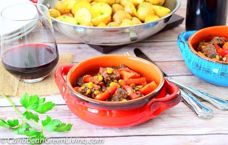 Beef Ragu with Roasted Potatoes