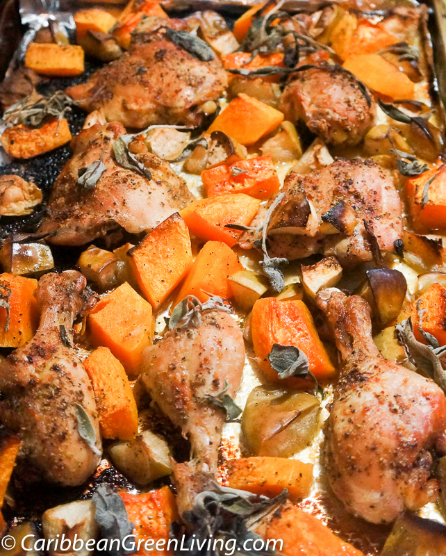 Butternut Squash, Apple and Chicken Pan Roast