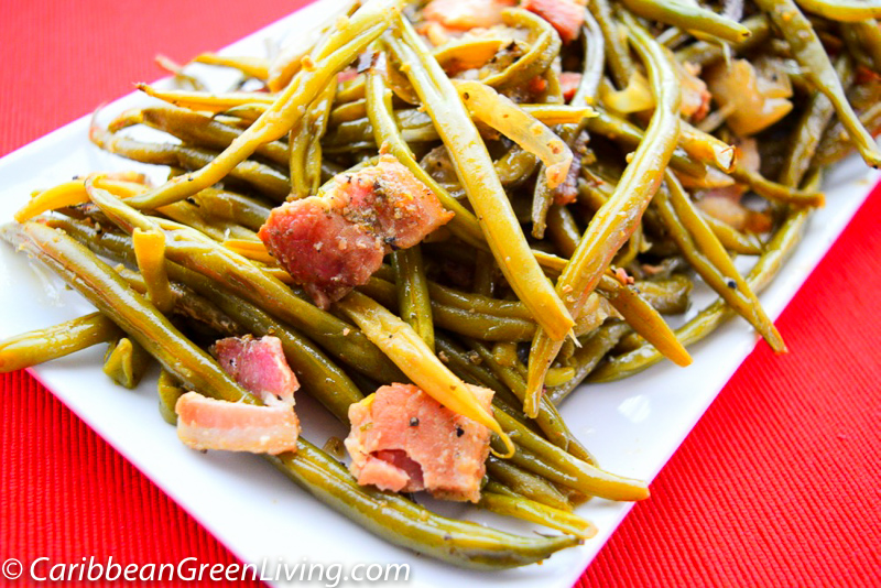 Crockpot String Beans with Bacon
