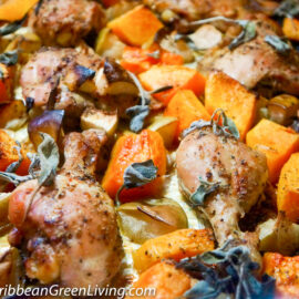 Roasted Chicken with Squash