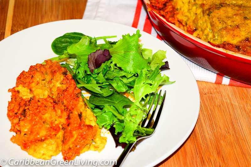 Green Plantains and Ground Turkey Meat Pie, Gemma's way