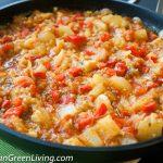 Eggplant, Zucchini and Fresh Tomato Stew