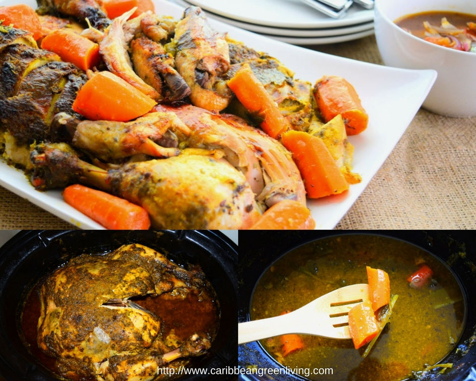 lemon-and-herbs-chicken-in-crock-pot-collage