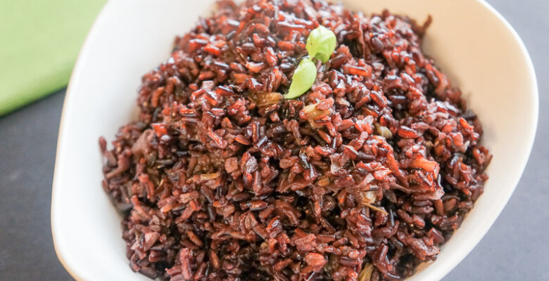 Red Rice with Leeks