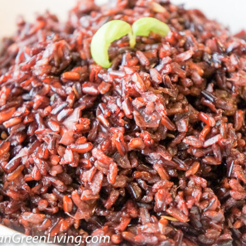Aromatic Red Rice with Leeks and Herbs