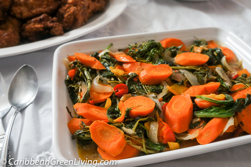 Sautéed Carrots, Kale and Watercress