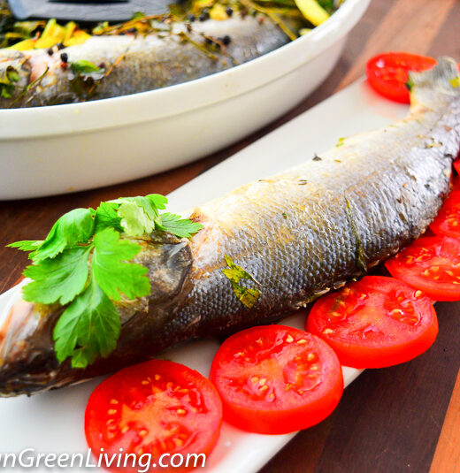 Seabass with herbs and spices