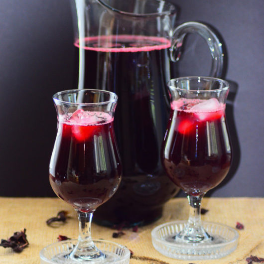 Caribbean Sorrel Drink, one of the famous holiday drink