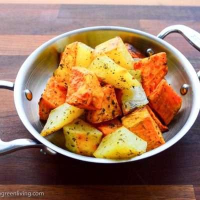 Roasted-Sweet-and-Regular-Potatoes