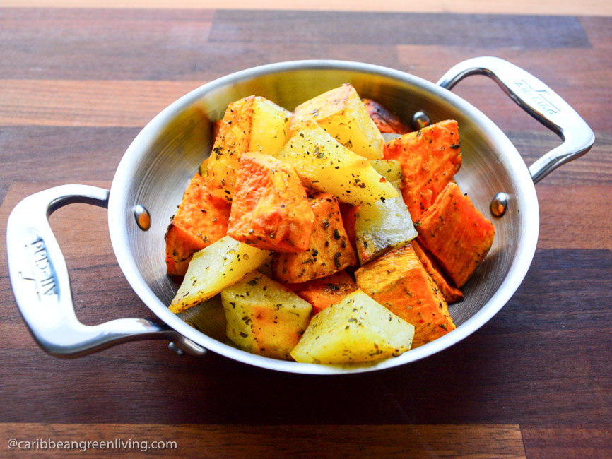 Roasted-Sweet-and-Regular-Potatoes