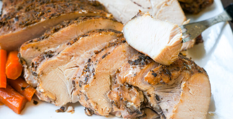 Slow-cooked turkey with Moroccan Seasoning