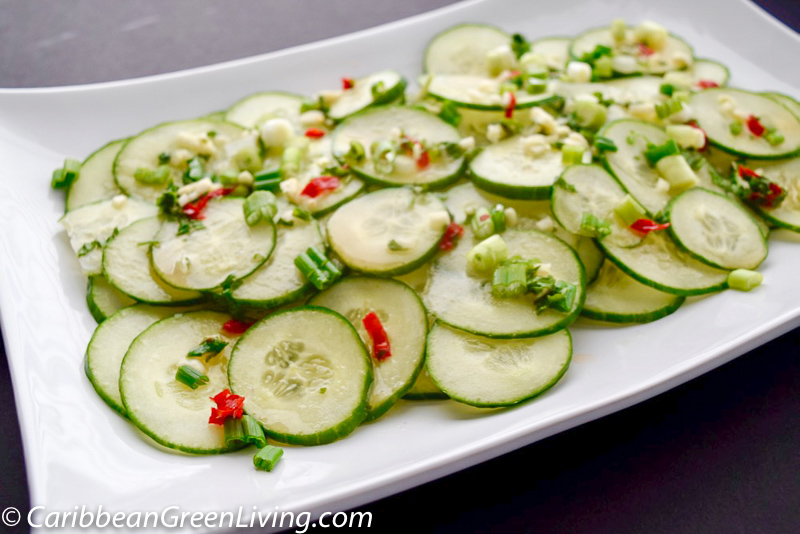Quick and Spicy Cucumber Salad