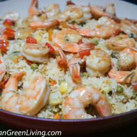 Vegetables Jasmine Rice with Sweet Pepper and Shrimp 2