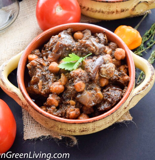 Lamb Stew with Eggplant and Chickpeas