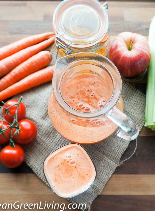 Apple, Tomato and Carrot Juice, an energy booster