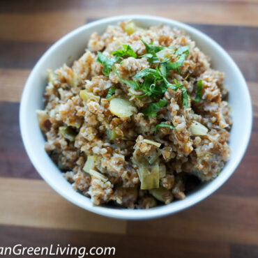 Bulgur Wheat with Leek and Lima Beans 6 1