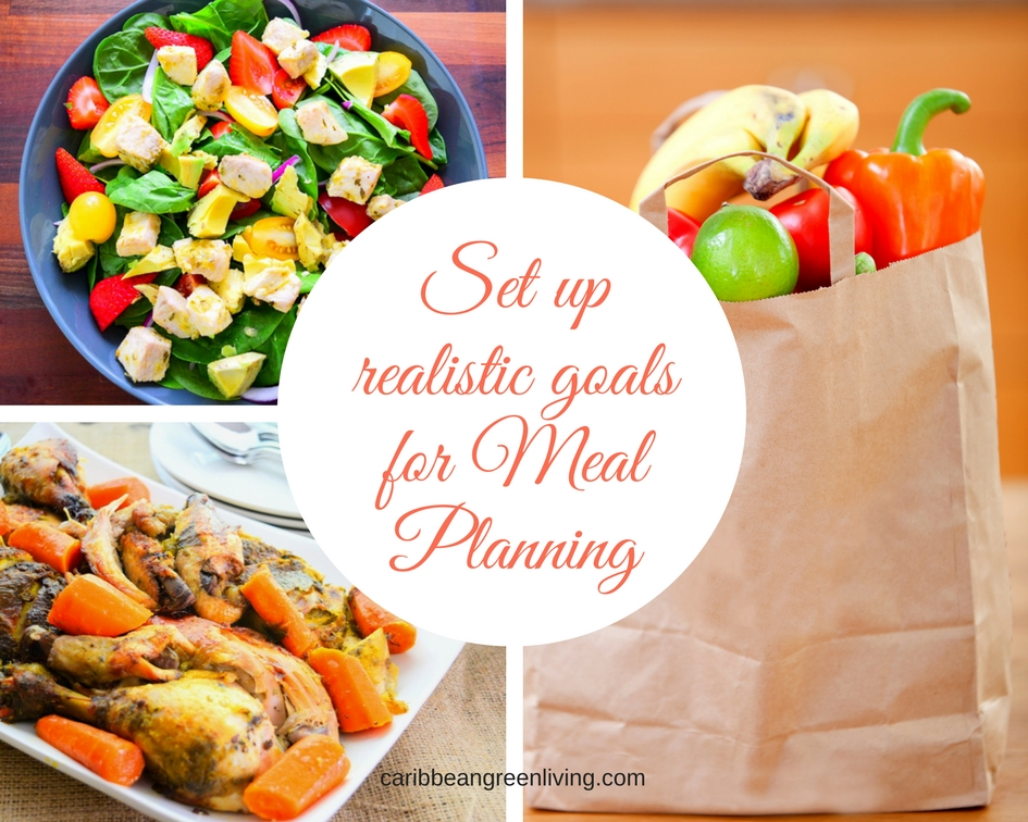 Meal Planning goals