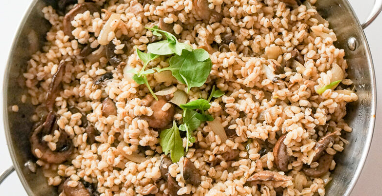 Warm Barley and Mushroom Salad