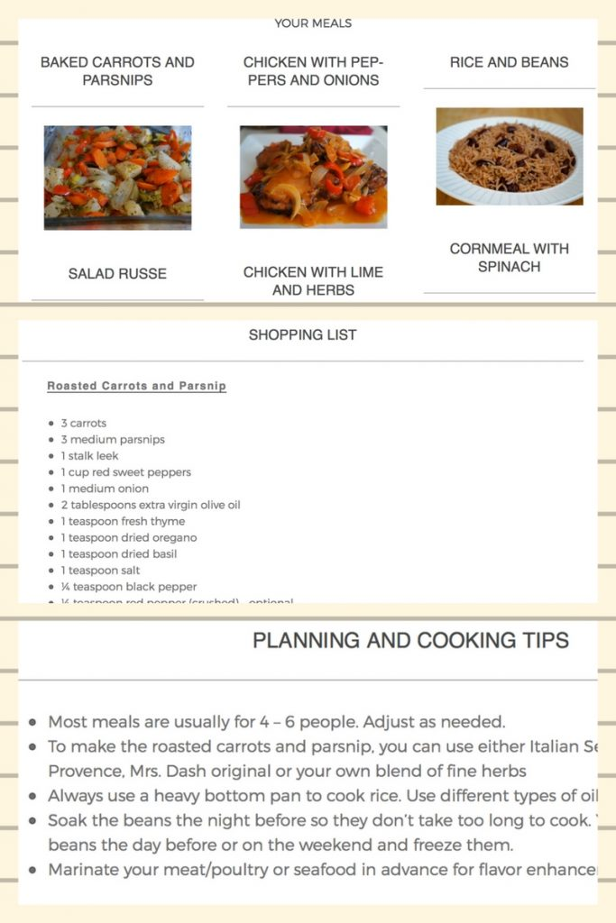 Newsletter Sneak Peek And Sample Frugal Caribbean Cooking Meal