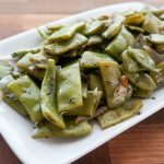 Italian Green Beans with Garlic and Shallots