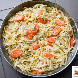 Linguine with Carrots in a cheese and savory sauce 2 1