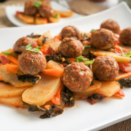Ground Turkey Meatballs with Chayote and Kale 8 1