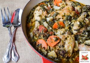 Spicy-Chicken-with-Cabbage-Spinach-and-Carrot
