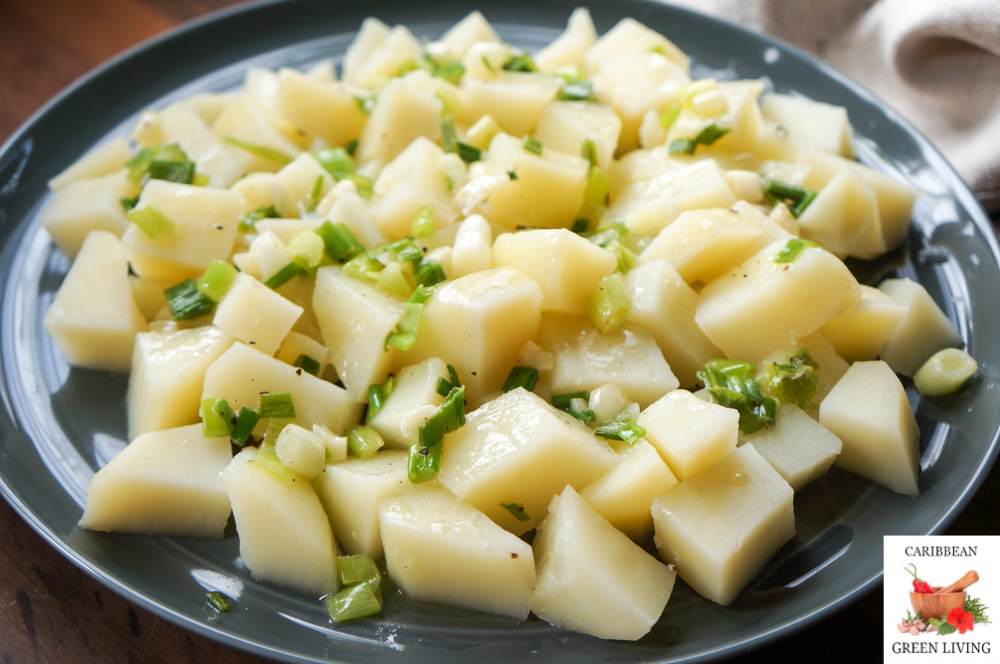 Warm Red Potatoes with a Butter Garlic Scallion Sauce