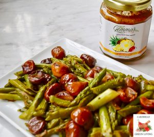 Asparagus with Roasted Chestnuts