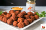 Bulgur Wheat Ground Turkey Meatballs with Mango Sauce