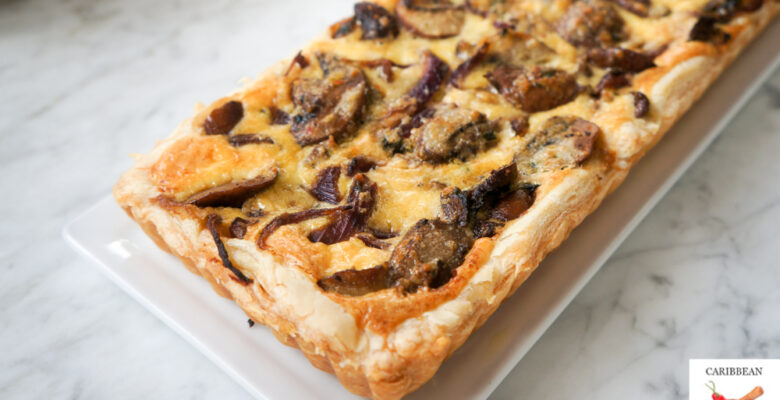 Easy and Savory Mushroom Tart for breakfast or brunch