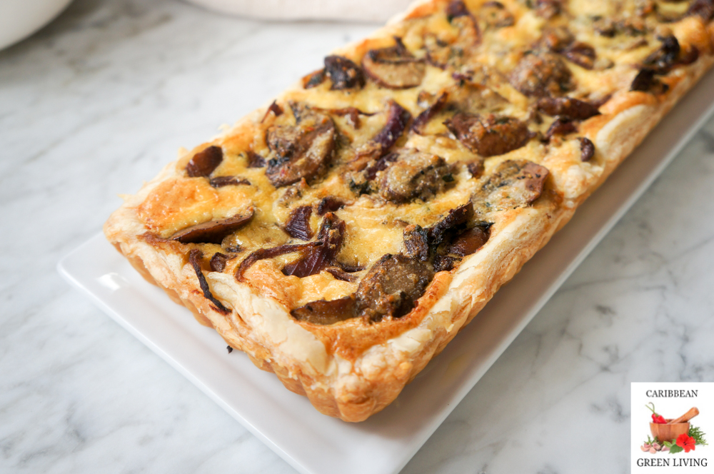 Easy and Savory Mushroom Tart for breakfast or brunch
