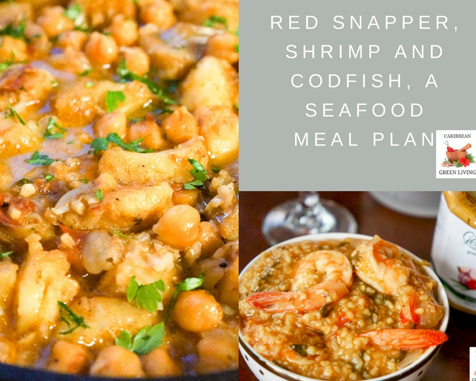 Red Snapper, Shrimp and Codfish, a Seafood Meal Plan