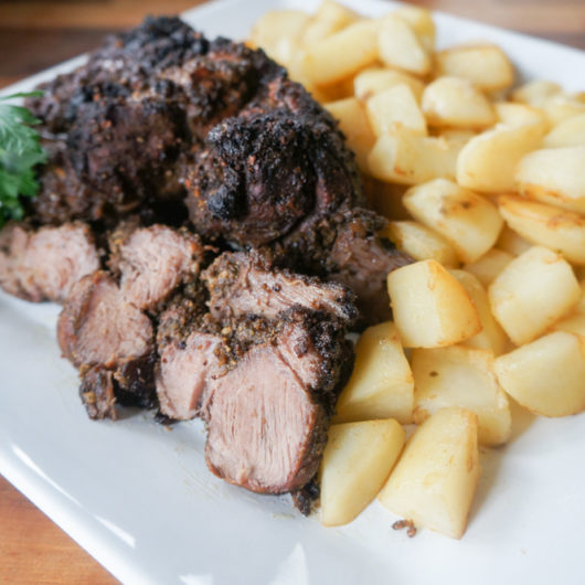 Roasted Lamb with Pineapple Hot Sauce
