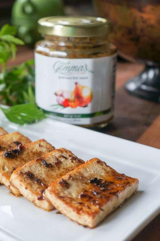 Sautéed Honey-Glazed Tofu