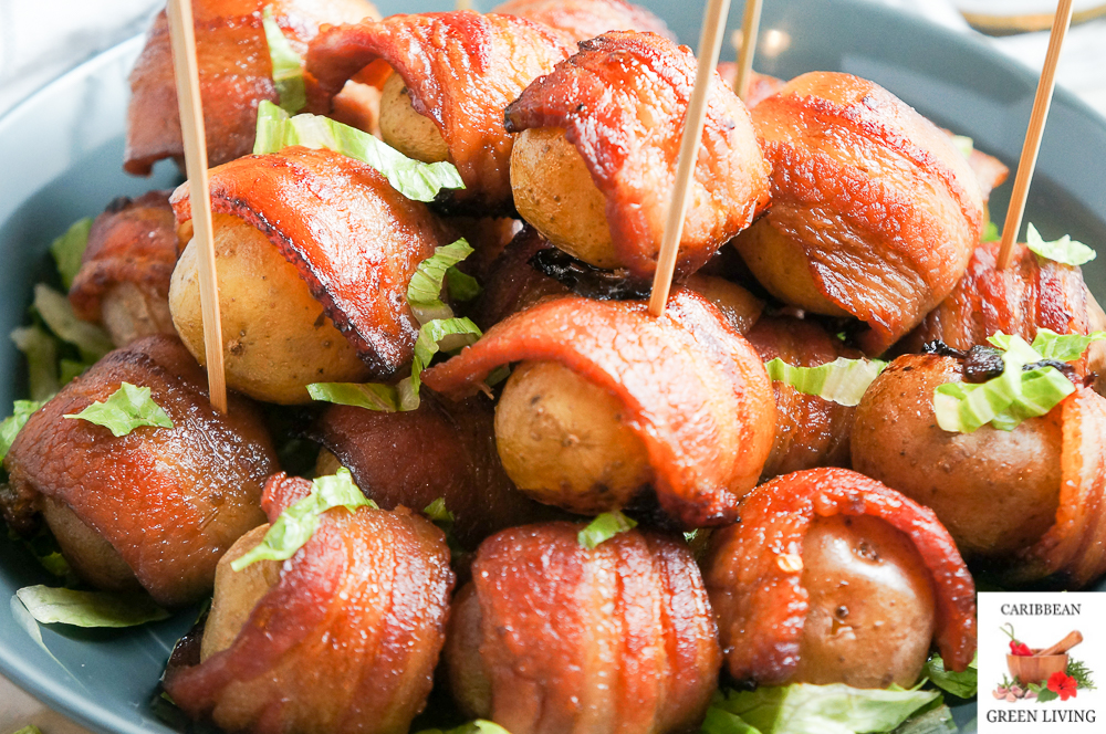 Spicy, Zesty and Sweet Bacon Wrapped Potatoes