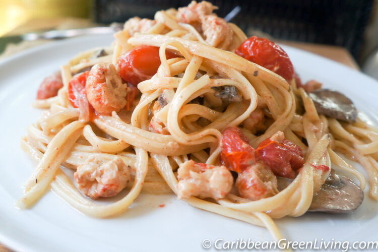 Easy Linguine with Langoustines and Alfredo Sauce